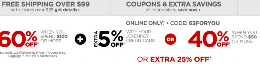 JCPenney Free Shipping Code