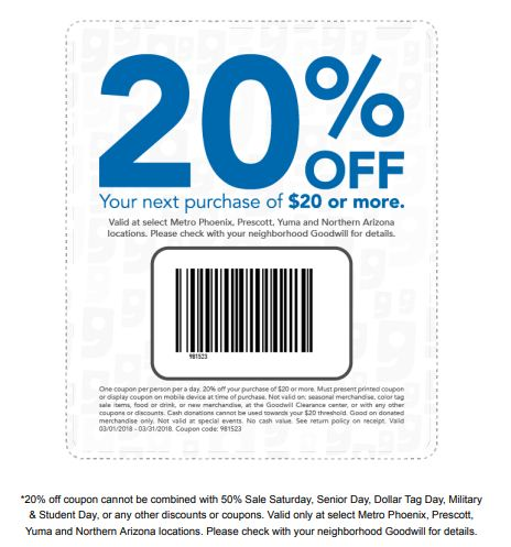GoodWill  Coupon