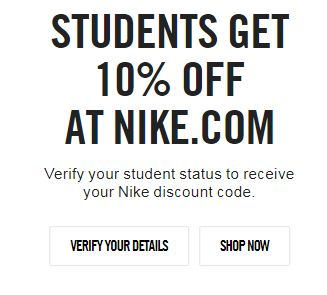 valid nike store discount code