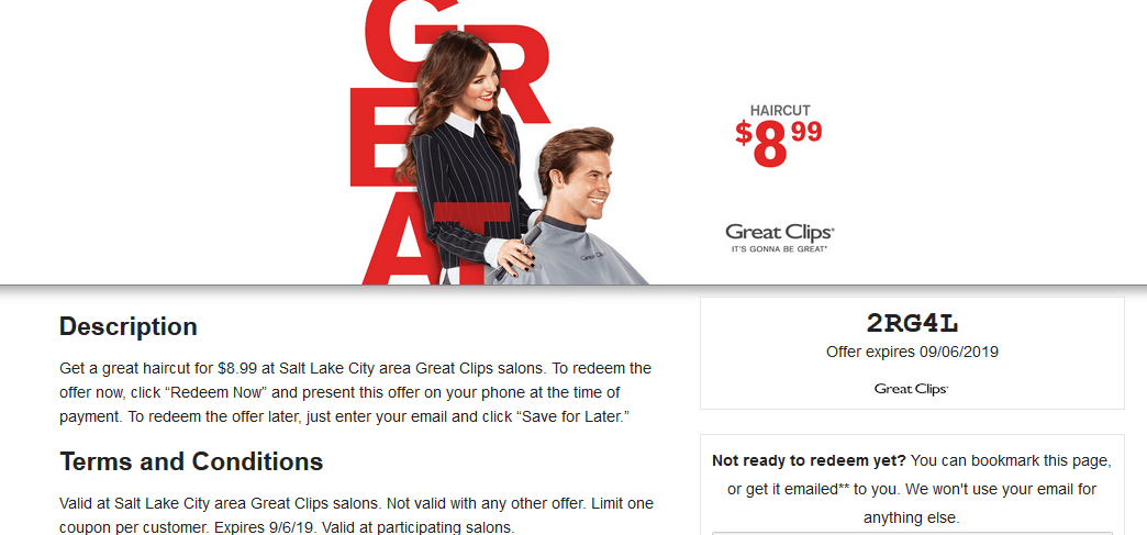 YMMV} $6.99 Great Clips Black Friday Coupons Printable